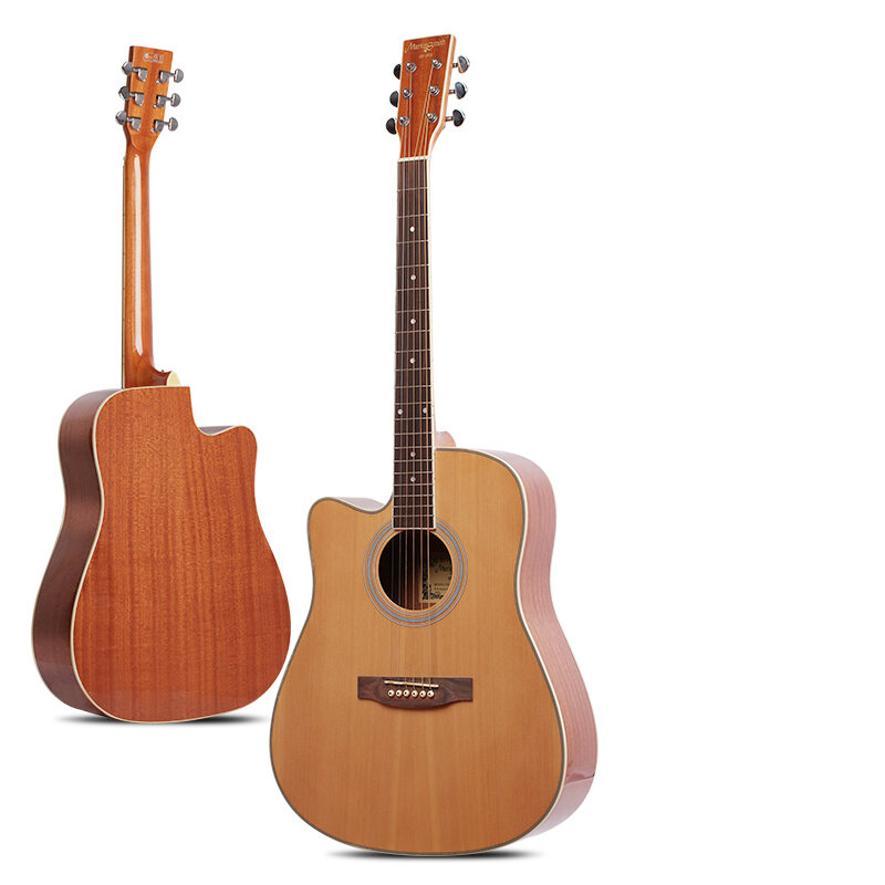 Martin Mith 41-Inch Left-Hand Veneer Folk Guitar Backhand Left-Handed Dedicated Electricity Box Guitar for Beginners Malaysia