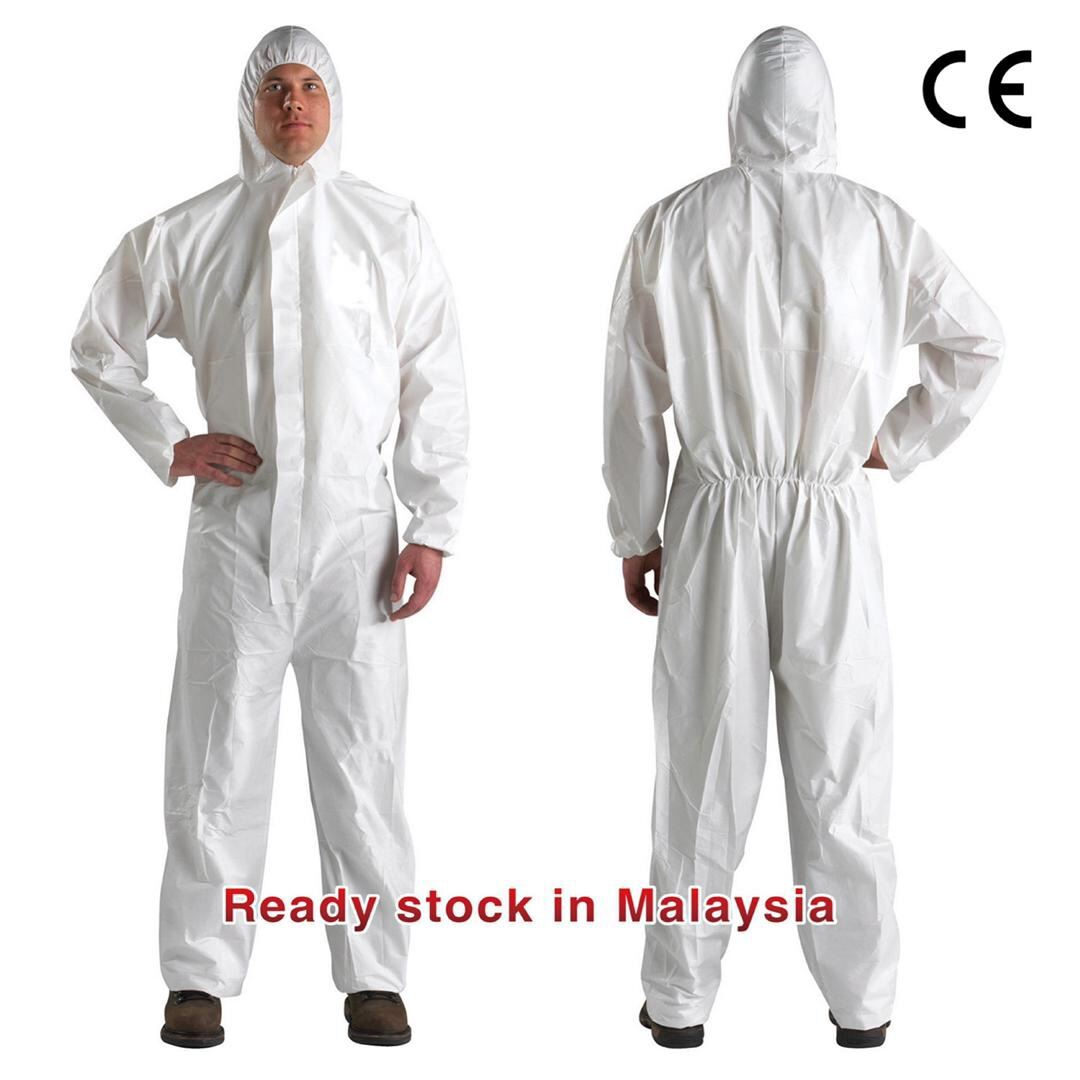 PPE suit coverall 45gsm without shoe cover