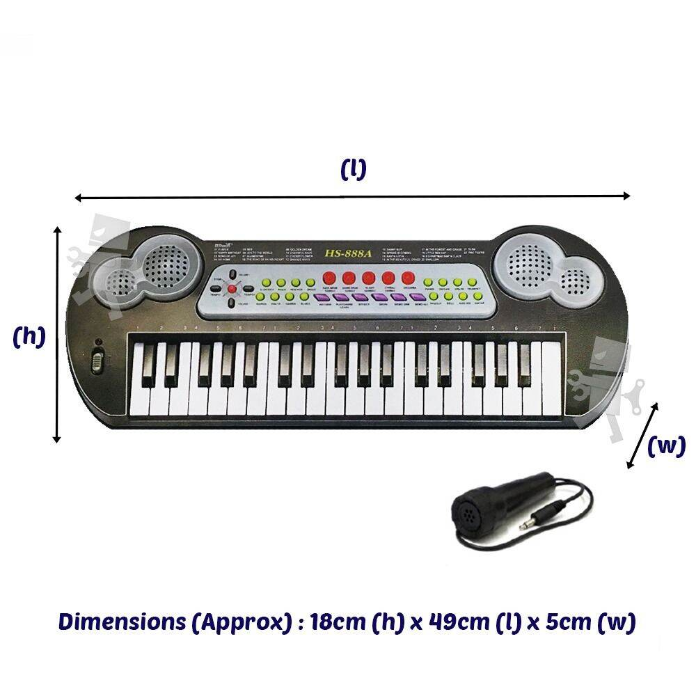 37 Keys 49cm Musical Electronic Keyboard Piano with Microphone Music Toys for Kids Malaysia