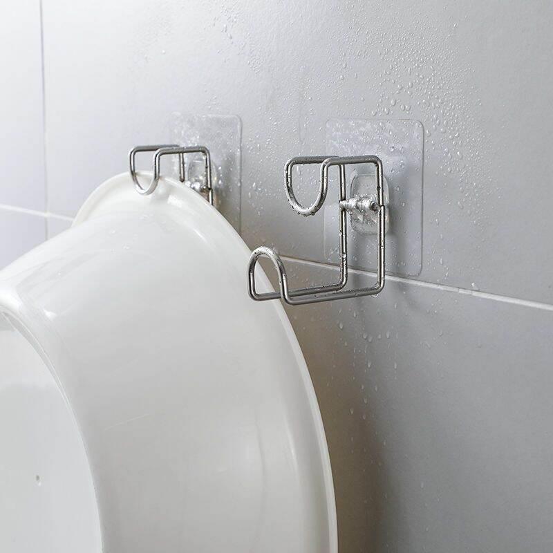 Hook Sticker Stainless Steel Hanging Basin Holder 洗脸盆无痕挂钩 (1pcs)