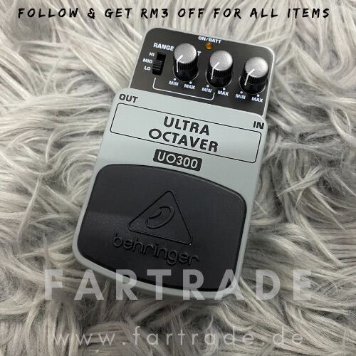 Fast Delivery | Ready Stock | Behringer Ultra Octaver UO300 Guitar/Bass Effects Pedal Malaysia