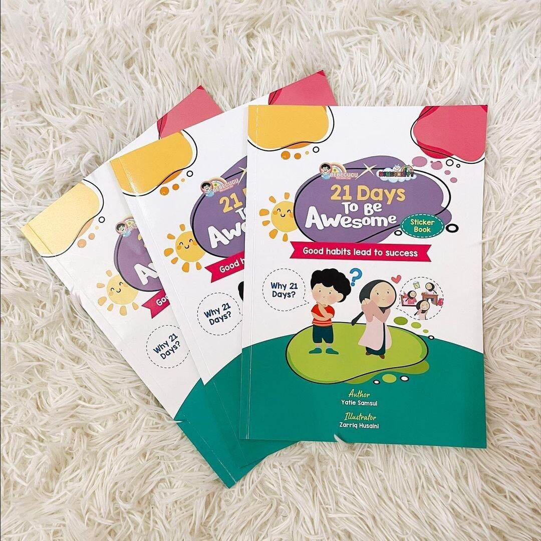 STICKER BOOK FOR KIDS -  21 DAYS TO BE AWESOME (good habit lead to success) Malaysia