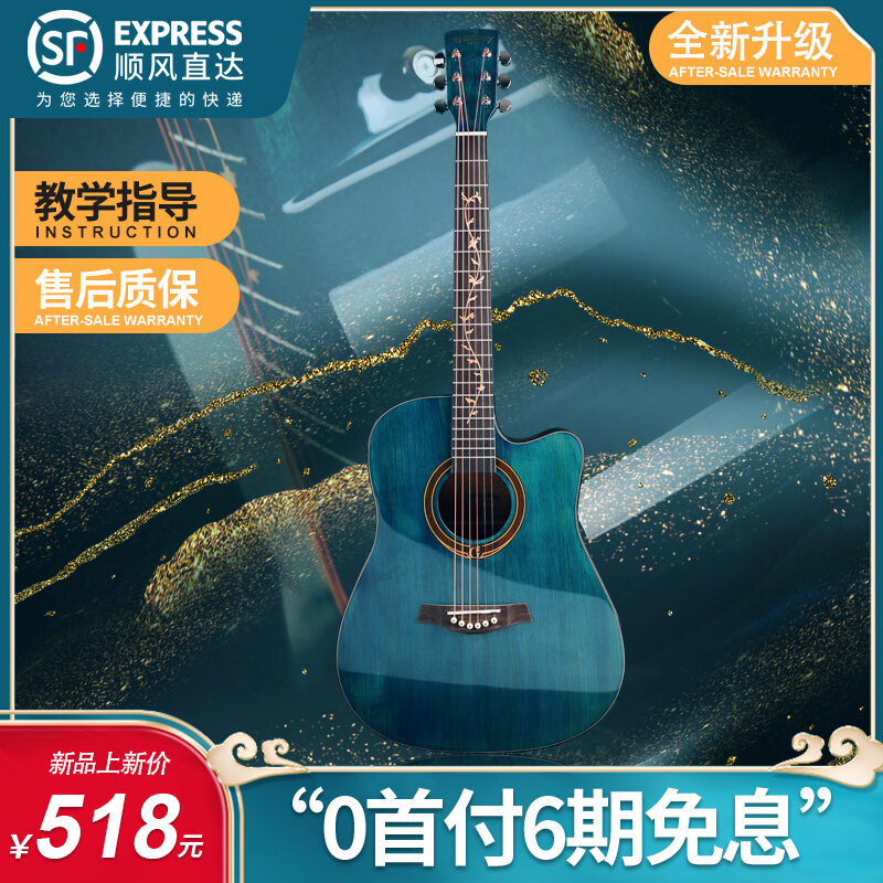 Blackwolf Bright Veneer 41-Inch Beginners Top Ten Brands of Guitar for Male and Female Students Malaysia