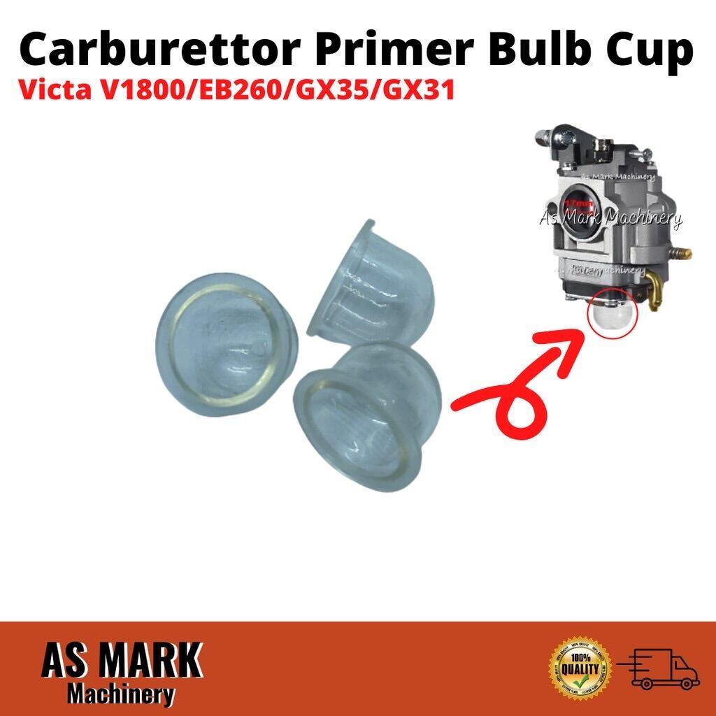 Carburetor Primer Bulb Cup Brush Cutter Knapsack Sprayer Hand Blower Honda Gx35 GX31 Victa V1800 Kasei EB260 Ogawa