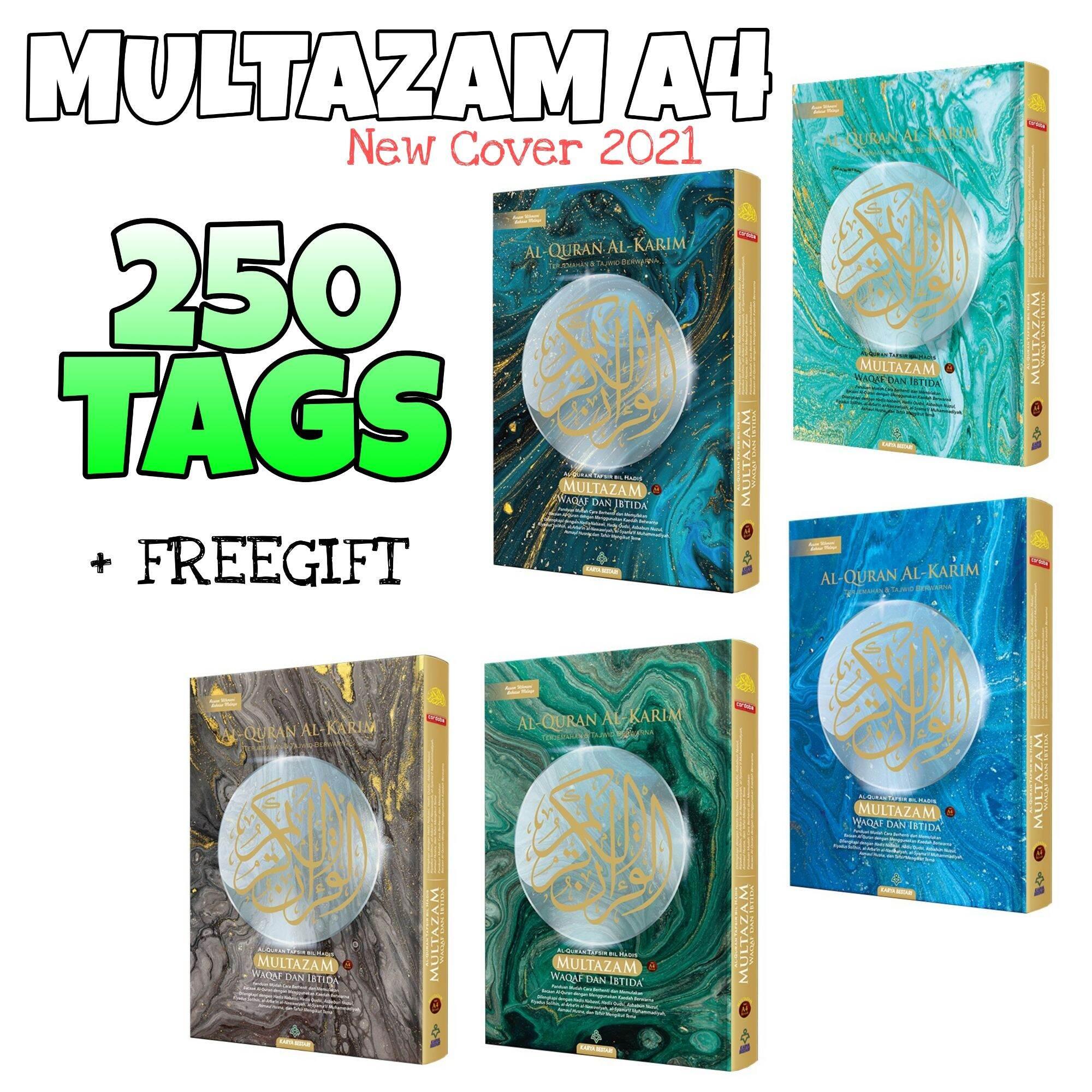 🔥(250 TAG) SIZE A4 AL QURAN TAGGING MULTAZAM WAKAF IBTIDA Malaysia