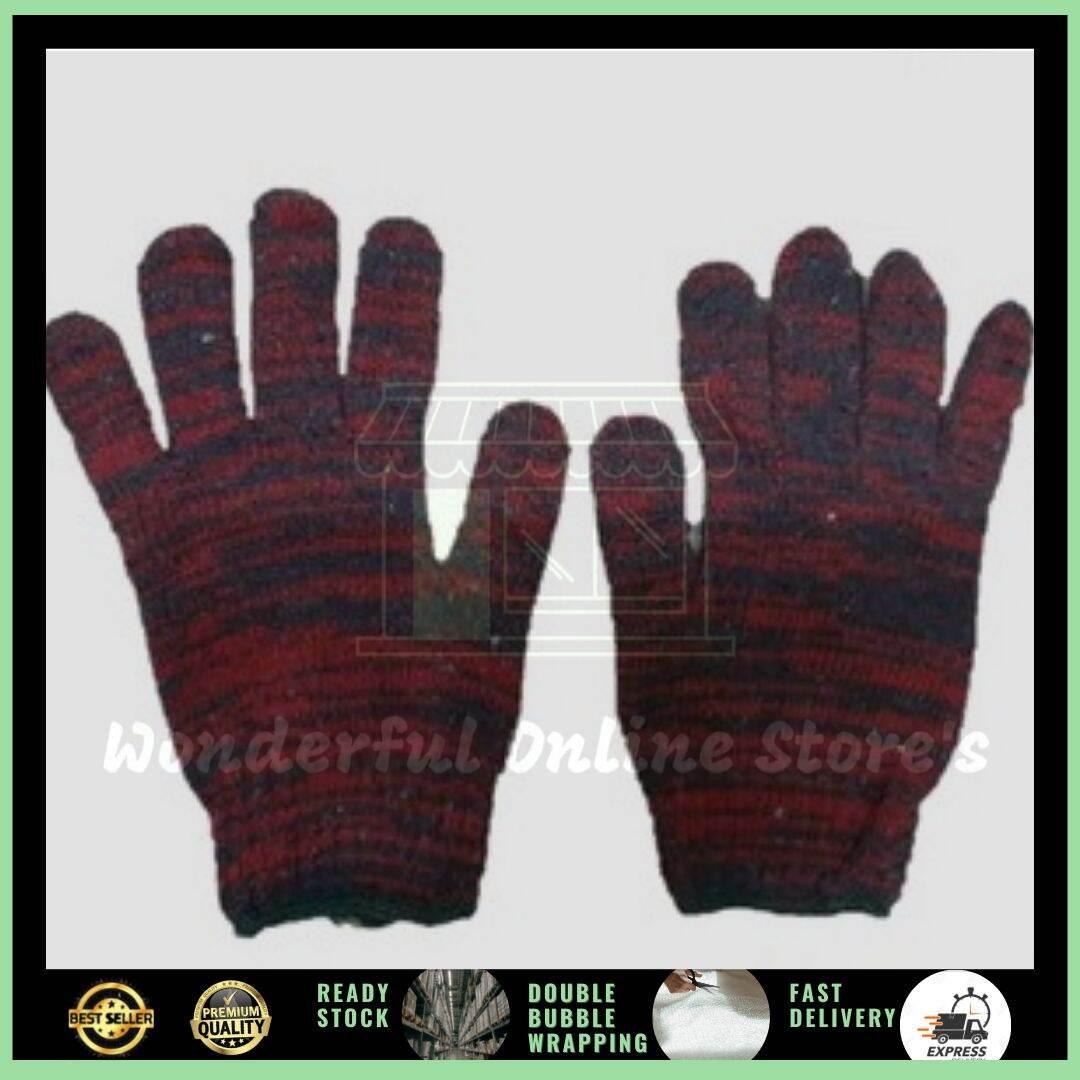 1200# Knitted Cotton Hand Gloves/ Sarung Tangan Kain
