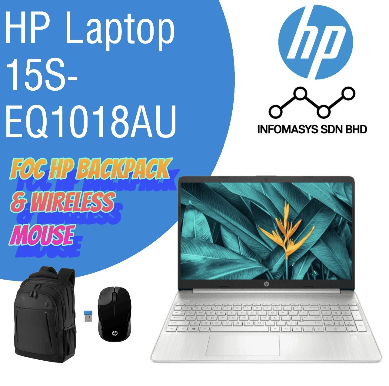 READY STOCK! HP Laptop 15s-eq1018AU (FREE HP BACKPACK & HP WIRELESS MOUSE) Malaysia