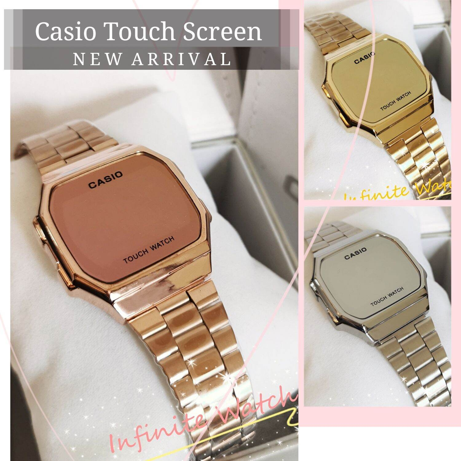 CASI0 Touch Screen Metal Mirror Face LIMITED stock Malaysia
