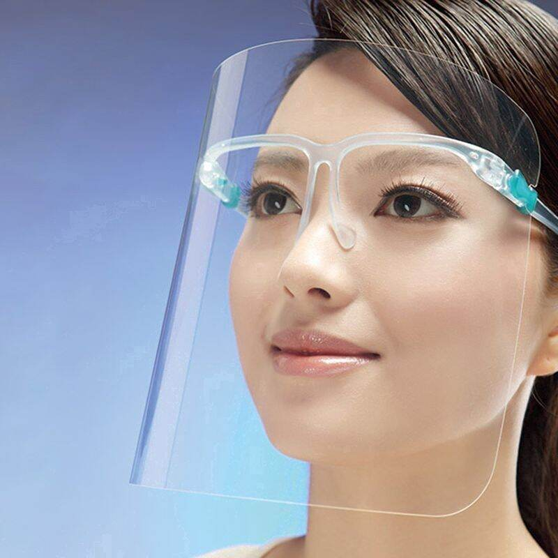 10 Pcs Face Shield with Glasses.