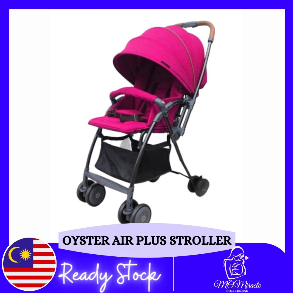 Stroller Baby Oyster Air Plus Elegant Portable 2 Way Facing Reversible Foldable Stroller (Wow Pink)