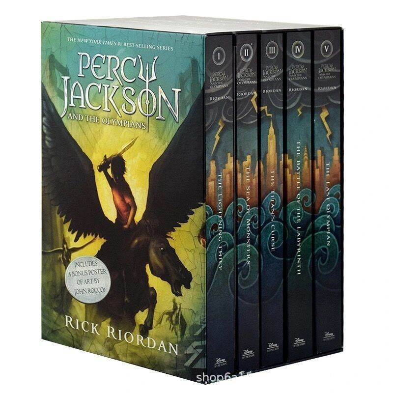 COMPLETE SERIES PERCY JACKSON AND THE OLYMPIANS BOX SET 5 BOOKS Malaysia