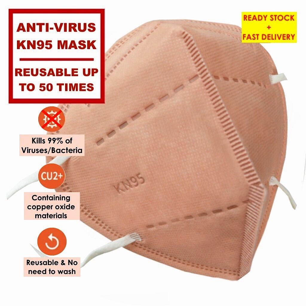 KN95 5ply Anti-virus Copper Oxide Face Mask 10pcs