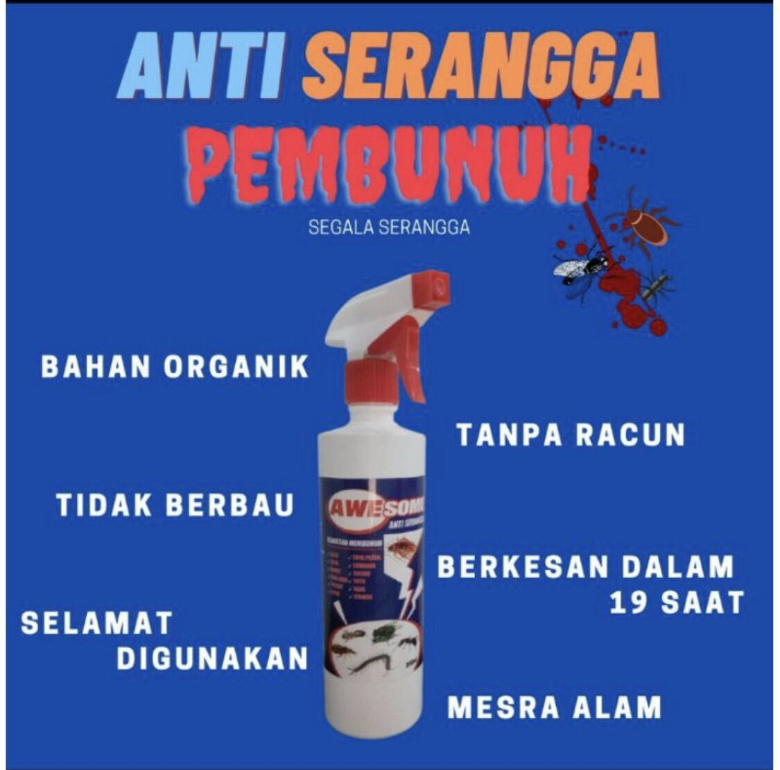 AWESOME ANTI SERANGGA SPRAY(FOR FLY / MOSQUITO / ROACH / INSECTS)