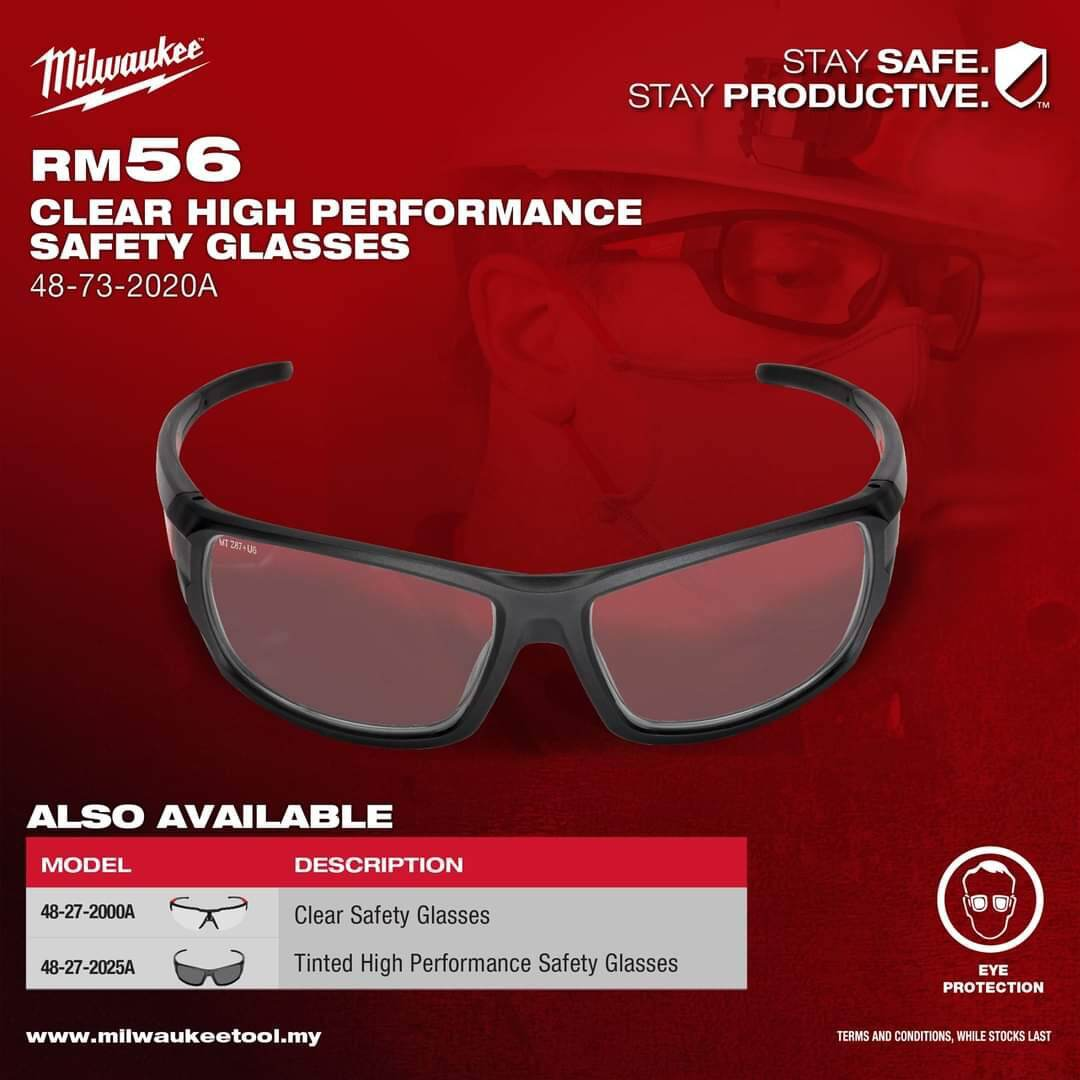 Milwaukee Clear High Performance Safety Glasses (48-73-2020A)