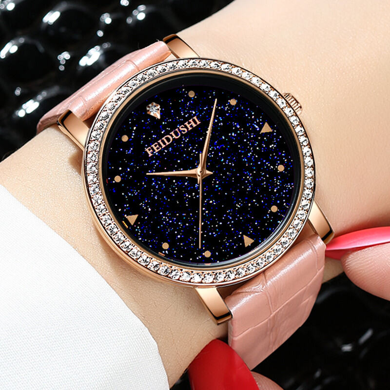 Ladies Watch Waterproof Fashion 2018 New Style Trend Students Korean Style Simple Leisure Glorious WOMENS Watch Ulzzang Malaysia