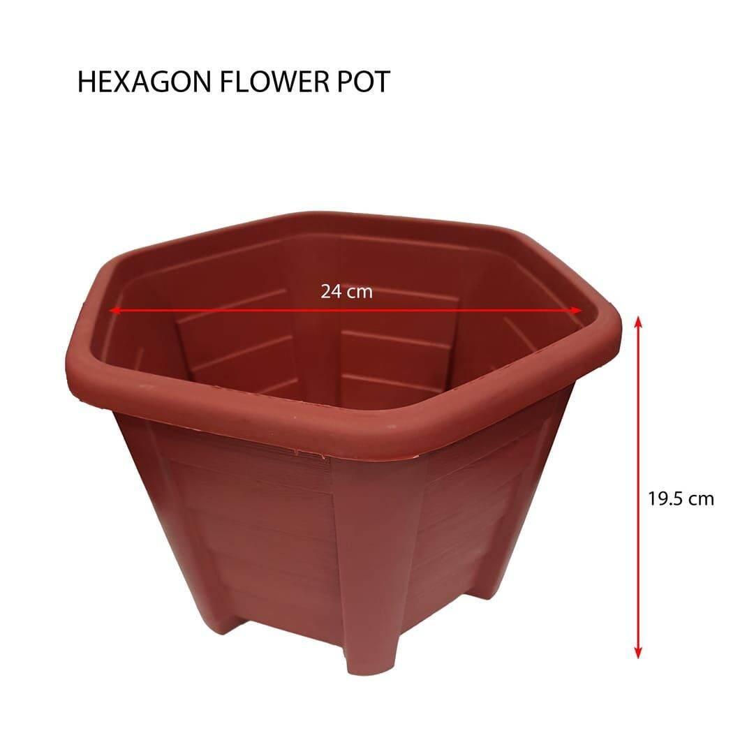 Pasu Bunga Hexagon (BESAR)