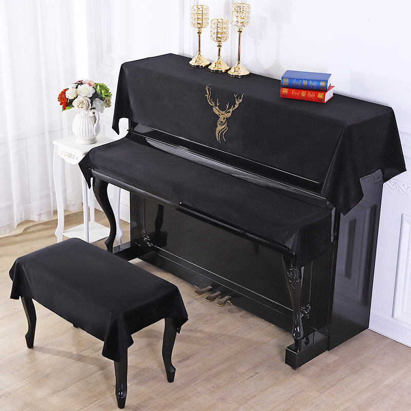Piano Cover Half Cover Piano Cloth Cover Cloth Full Cover Diamondmax Velvet Piano Cover Dustproof European Piano Stool Sets Modern Simple New Malaysia