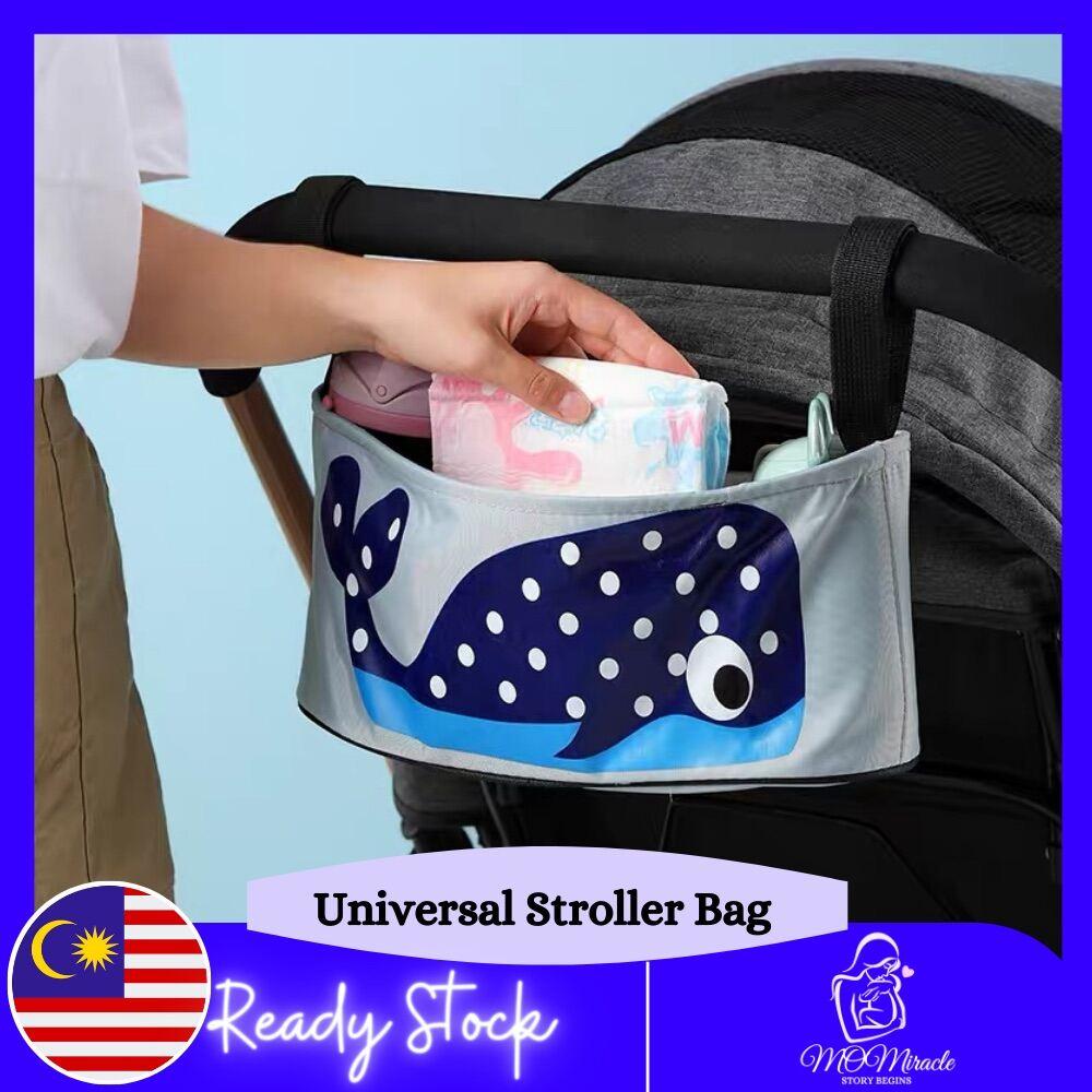 Baby Stroller Organizer Basket Hanging Storage Car Organizer Stroller Organizer Multipurpose Storage Bag