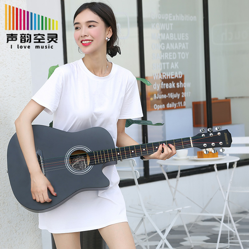 Authentic 38-Inch 41-Inch Folk Acoustic Guitar Beginner Male and Female Students Practice Piano Musical Instrument Beginners Entry Guitar Malaysia